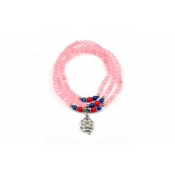 Bracelet Quartz Rose Trèfle 3 tours M