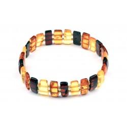 Bracelet Ambre à Plaquettes M