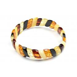 Bracelet Ambre à Plaquettes Multicolore M