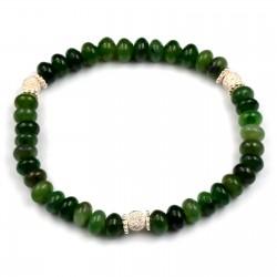 Bracelet Argent 0.925 Jade Pastilles 5mm M