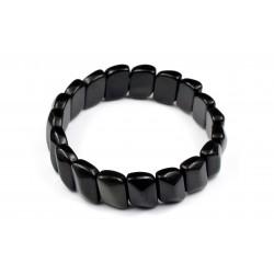 Bracelet Obsidienne Pierres Plates M