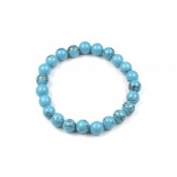 Bracelet Howlite Turquoise 8mm M