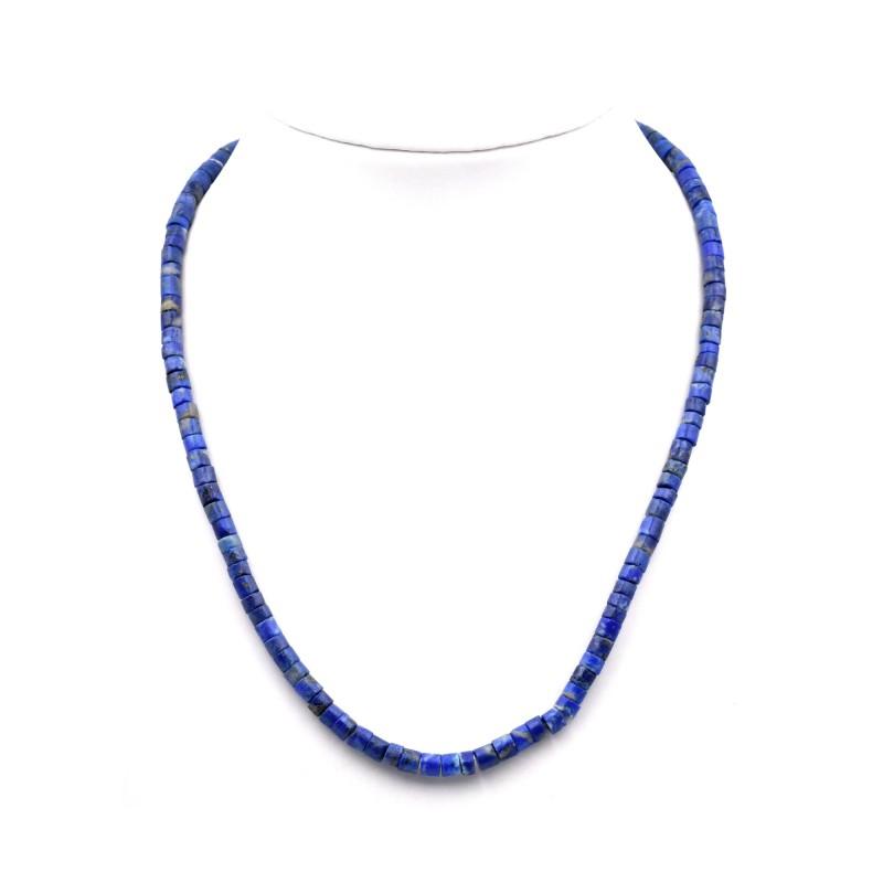 Collier pastilles de Lapis Lazuli 6mm 42cm M