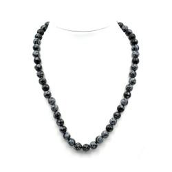 Collier Obsidienne Mouchetée 8mm 42cm M