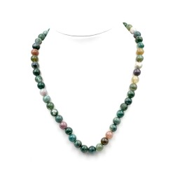 Collier Agate Indienne 8mm 45cm M