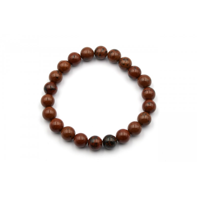 Bracelet OBSIDIENNE BRUNE 8mm