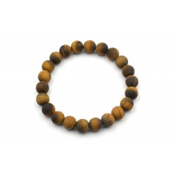 Bracelet Homme Oeil de Tigre Dépoli 10mm 22cm M