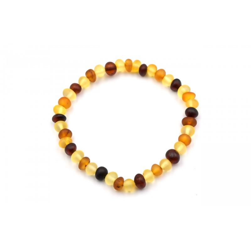Bracelet Ambre en Perles Roulées dépolies