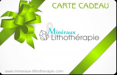 Carte Cadeau Minéraux & Lithothérapie (vert)