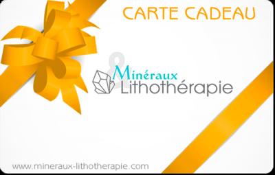Carte Cadeau Minéraux & Lithothérapie (orange)